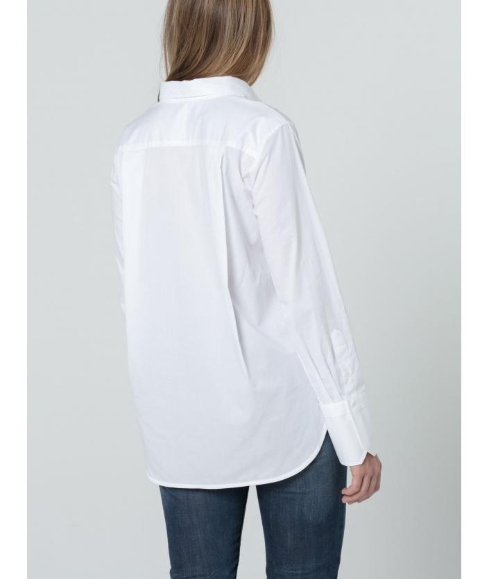 Chemise coton twill  à manches longues