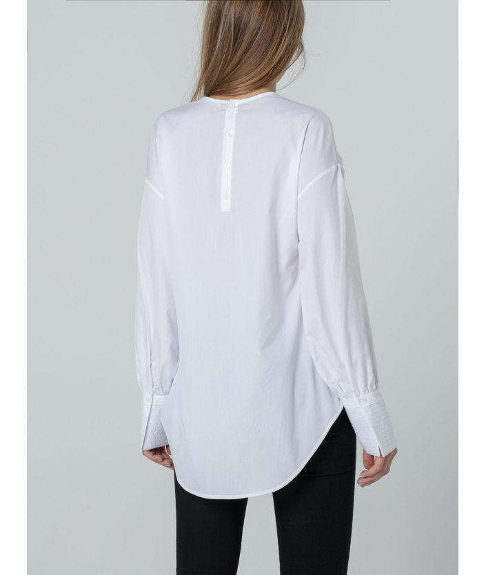 Blouse  Chona Blanc encolure V