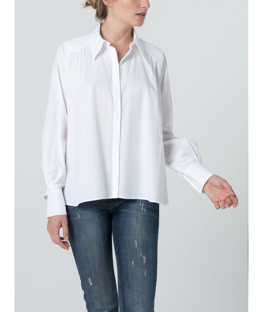 Chemise Yuki blanche pour femme