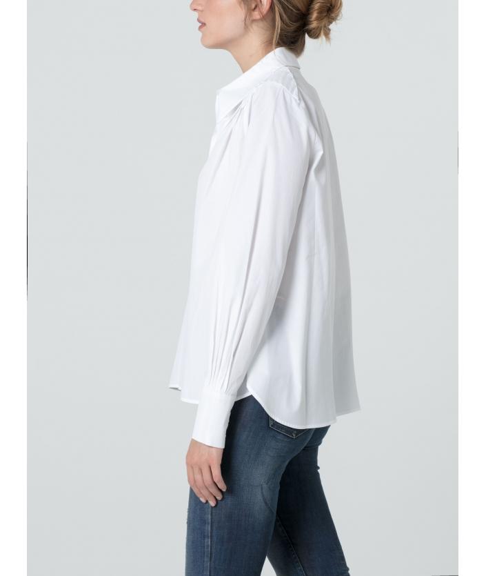 Chemise femme en popeline de coton
