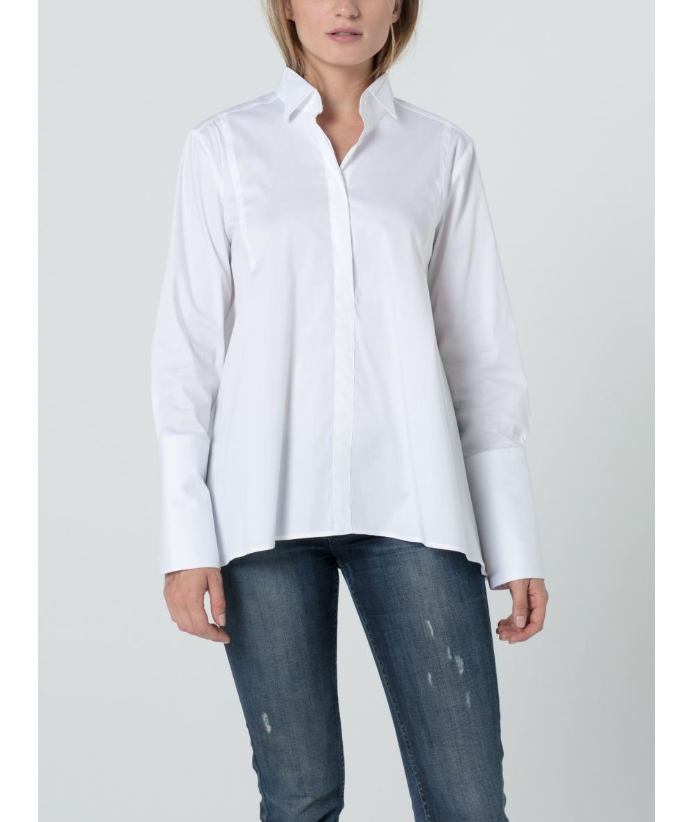 Chemise pour femme volume patineuse en coton