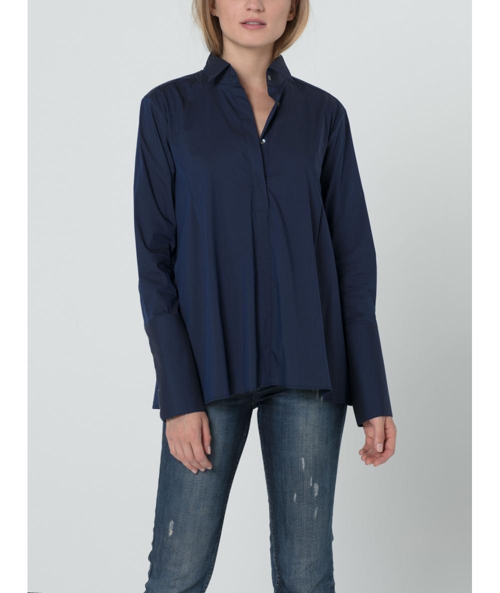 Chemise pour femme bleue nuit
