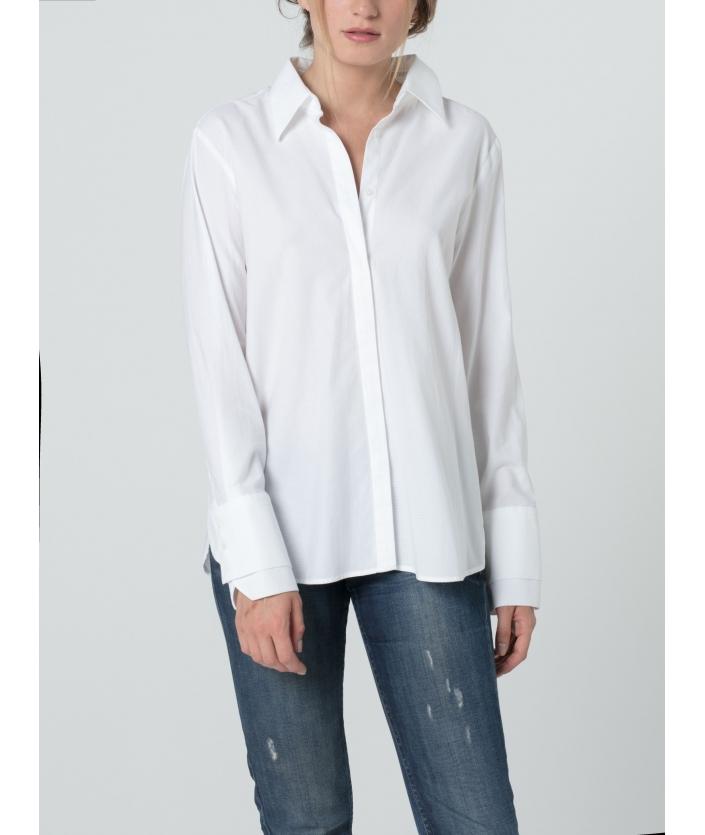Chemise pour femme en coton armuré