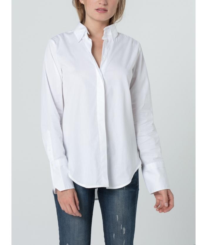 Chemise coton twill pour femme