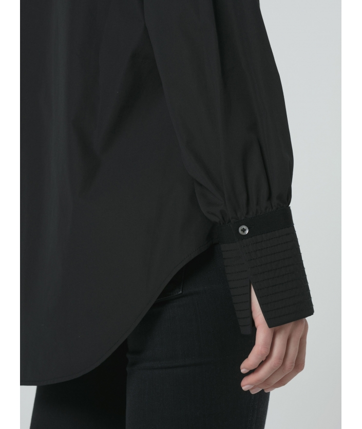 Blouse noire en coton