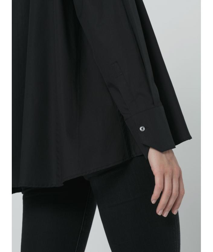 Chemise noire pour femme