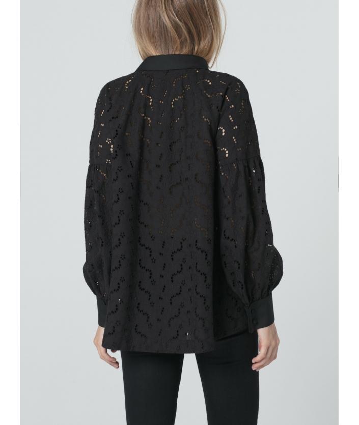 Chemise noire en coton