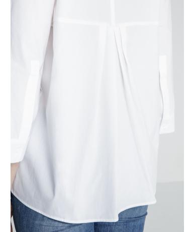 Chemise femme blanche manches 3/4 de luxe
