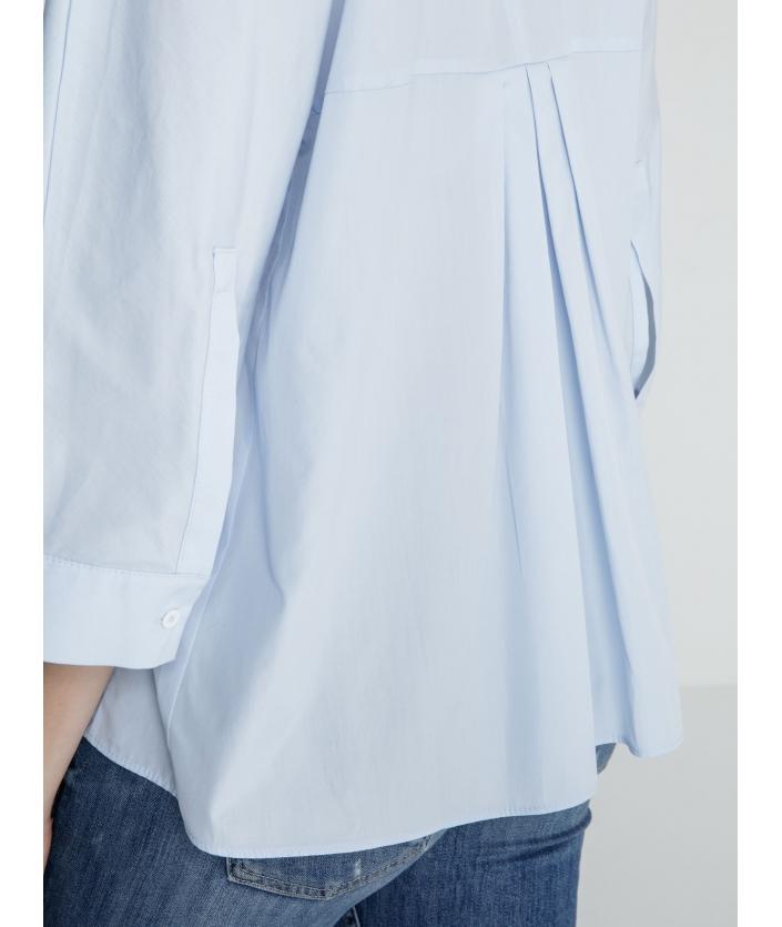 Chemise Fuyo bleue femme de luxe