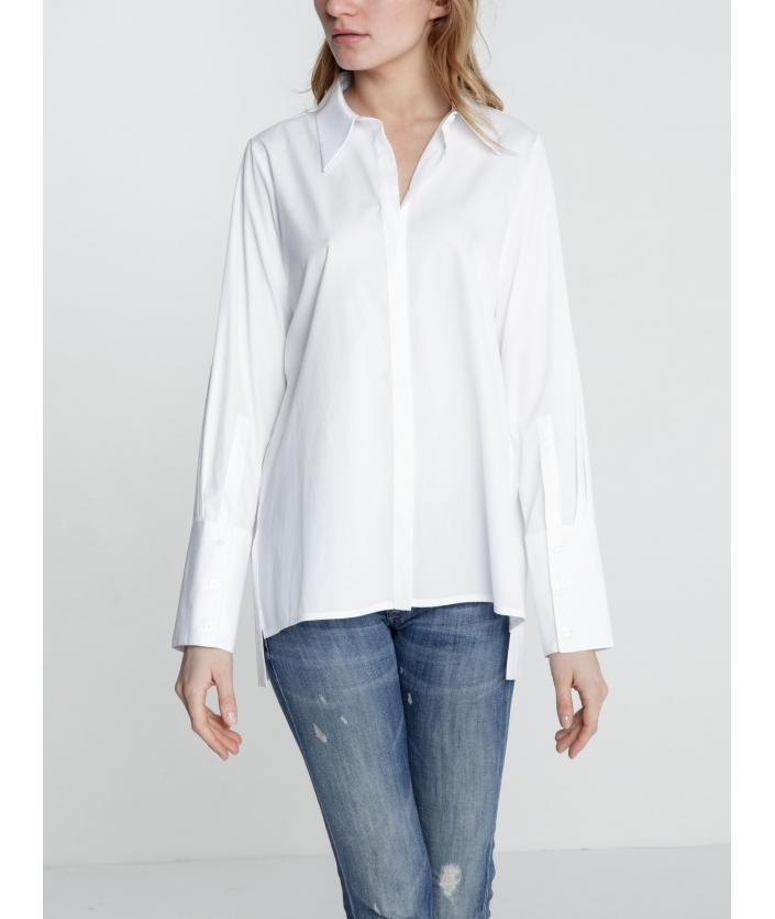 Chemise blanche droite pour femme