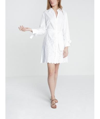 Robe chemise Enaki - BLANC