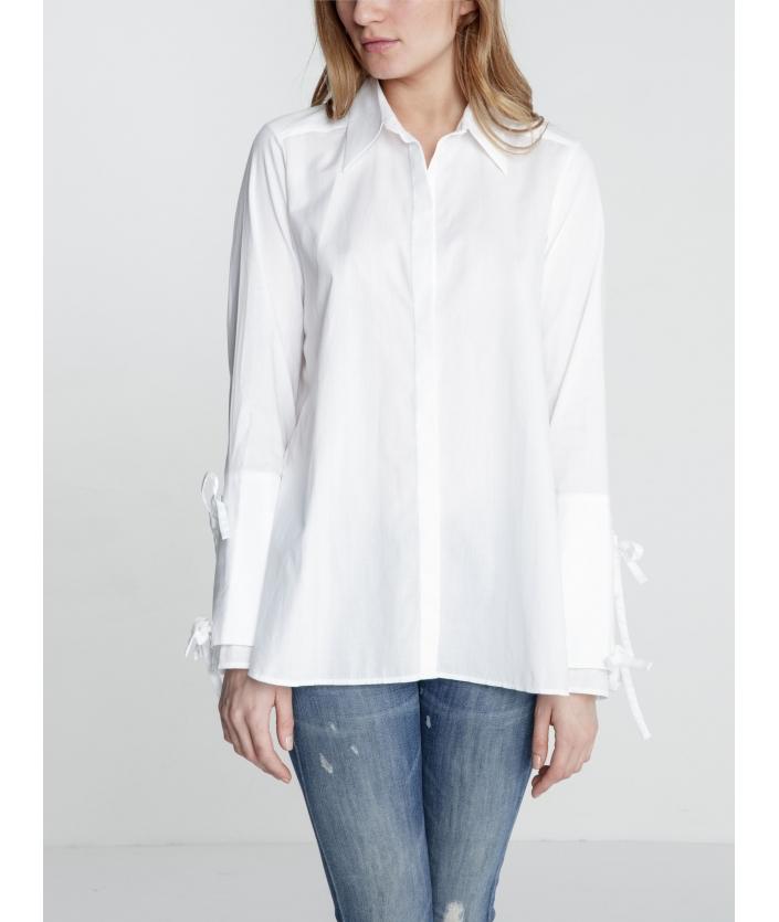 Chemise femme popeline de coton BLANC