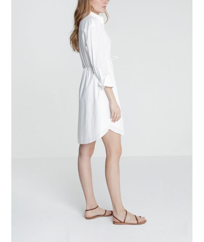 Robe chemise Kumi - BLANC