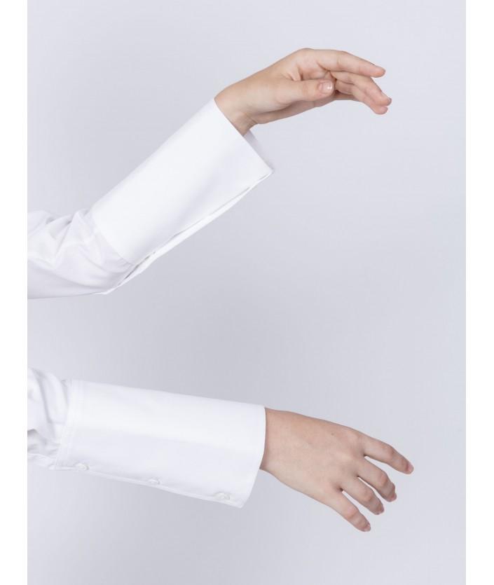 Chemise EMA blanche avec longs poignets