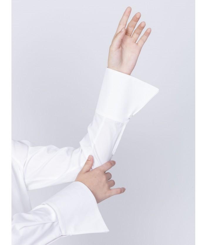 Chemise femme col ouvert avec fronces chemise Biba