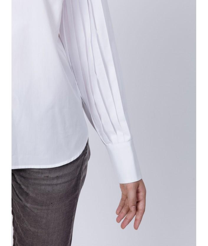 Chemise femme avec manches plissée