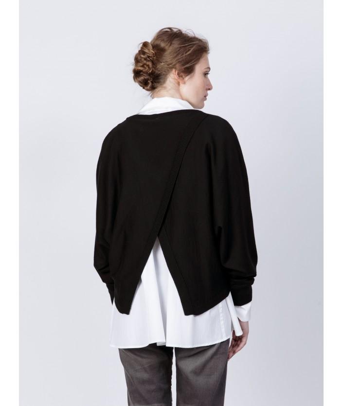 Pull Anago pour femme en laine mérinos et Col V