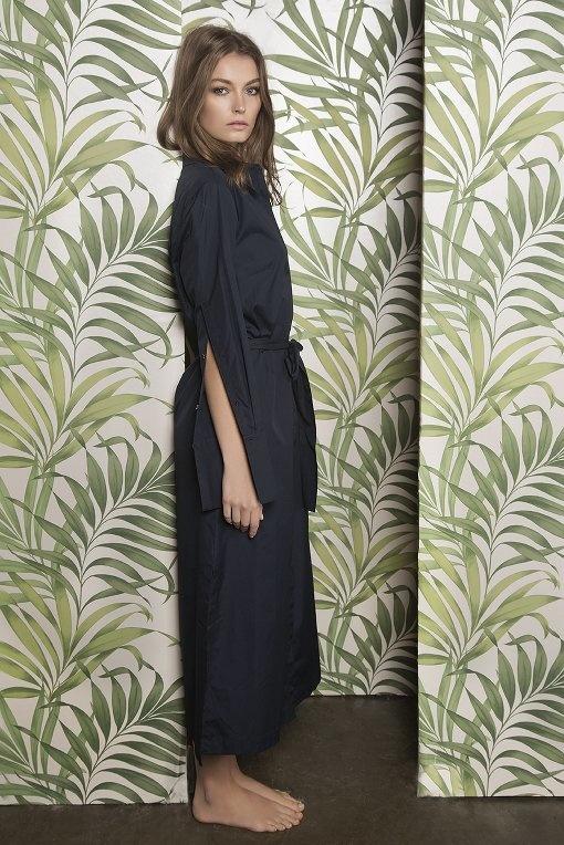 Robe chemise inspiration japonaise