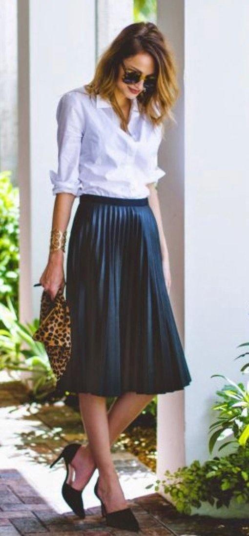 chemise haut de gamme avec jupe plissée